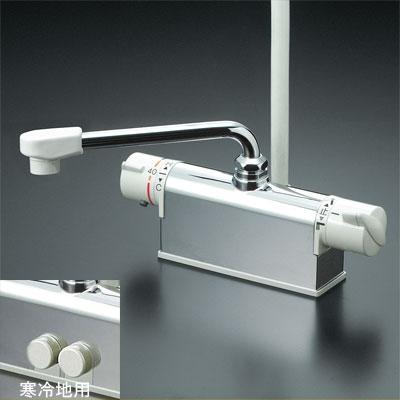 KVK 【KF771Y】 取付配管ピッチ100mmタイプ デッキ形サーモスタット式シャワー[新品]