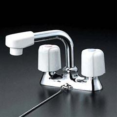 KVK 洗面用2ハンドル混合栓 固定こま【KM17NSZGS】2ハンドル混合栓【KM17NSZGS】[新品]