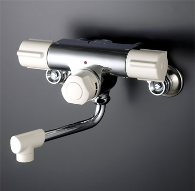 KVK 定量止水付2ハンドル混合栓 お湯ぴた/型2ハンドル混合栓【KM59W】[新品]