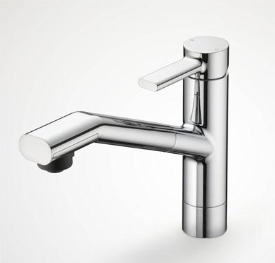 KVK 流し台用シングルレバー式シャワー付混合栓 【KM908】【KM908】[新品]