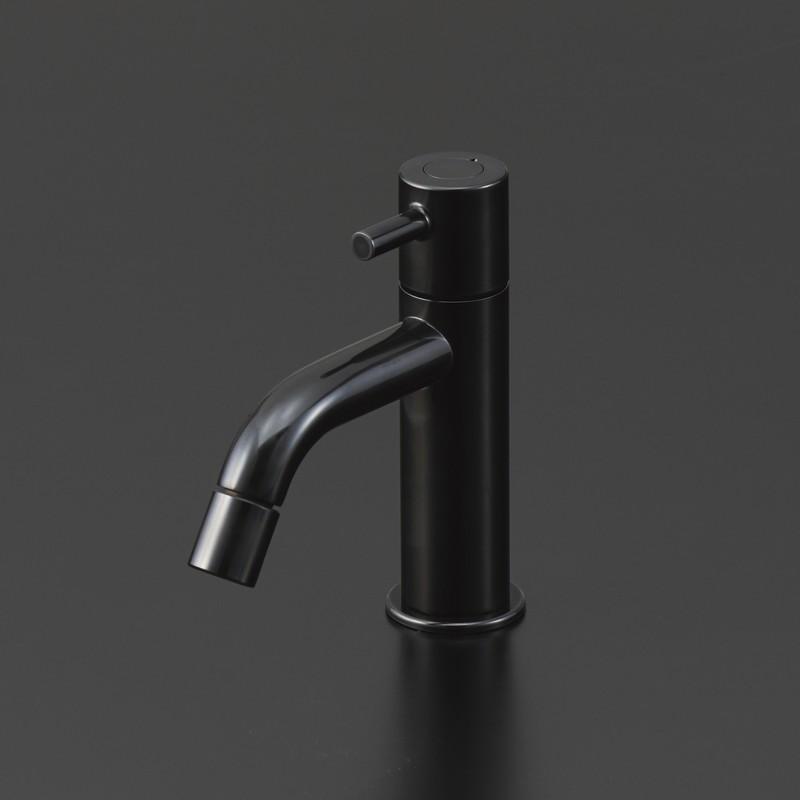KVK 【LFK612X-BK/800】 手洗い用単水栓≪黒クロムめっき≫ 洗面化粧室用水栓>特殊めっき水栓 [新品]