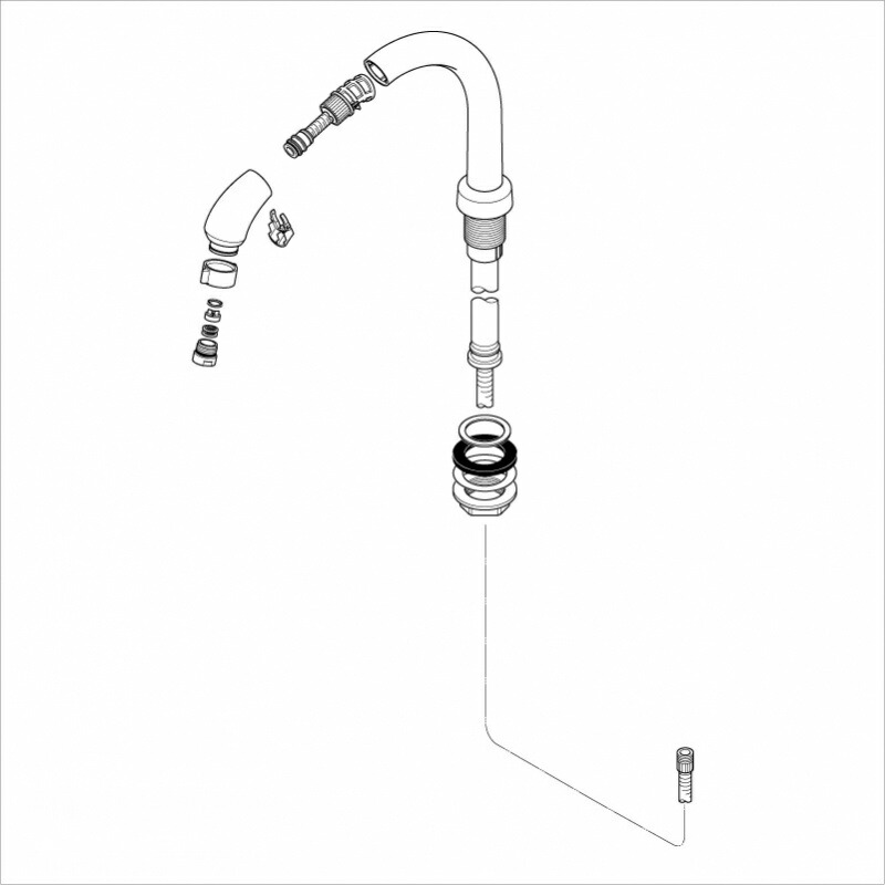 KVK 【HC585-6/800】 旧MYM洗髪水栓用ホルダーホワイト 旧MYM補修部品>旧MYMキッチン・洗面シャワー部品 [新品]