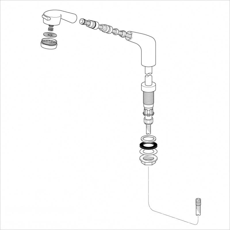 KVK 【HC581BG/800】 旧MYM洗髪水栓用ホルダーU15メッキタイプ 旧MYM補修部品>旧MYMキッチン・洗面シャワー部品 [新品]