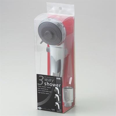 【全品送料無料】KVK 3wayシャワーヘッド 【PZ980】3wayフルメッキワンストップシャワー【PZ980】[新品]