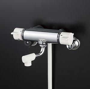 KVK 洗面化粧室 【KF800WNYS2】 寒冷地用 サーモスタット式シャワー(最高出湯温度規制) [新品]