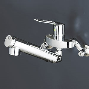 KVK キッチン 【KM5001ZNEC】 寒冷地用 壁付浄水器内蔵シングルレバー式混合栓(eレバー) [新品]