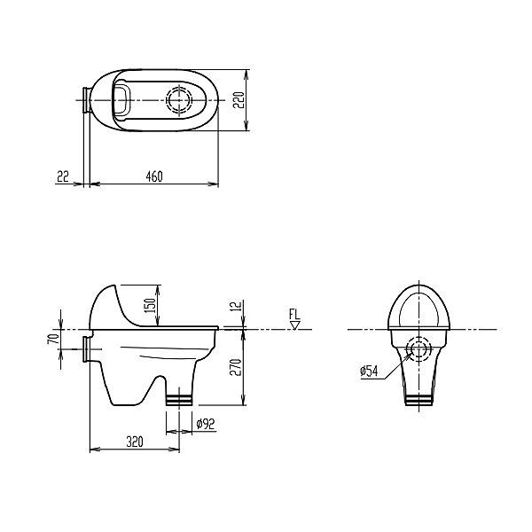 【ご予約順・入荷次第の発送】INAX LIXIL リクシル 幼児用施設器具 セット 幼児用和風便器【C-415】ハイパーキラミック【沖縄・北海道・離島は送料別途必要です】