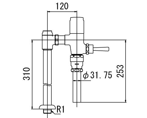 INAX トイレ フラッシュバルブ【CF-610BUT】 低圧用 洗浄水量6-8L便器用(定流量弁付フラッシュバルブ) 上水用 【CF610BUT】 INAX・イナックス・LIXIL・リクシル【沖縄・北海道・離島は送料別途必要です】