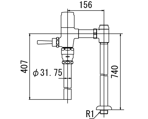 INAX トイレ フラッシュバルブ【CF-6115UTA-C】 低圧用 洗浄水量6-8L便器用(定流量弁付フラッシュバルブ) 中水用[納期4週間] 【CF6115UTAC】 INAX・イナックス・LIXIL・リクシル【沖縄・北海道・離島は送料別途必要です】