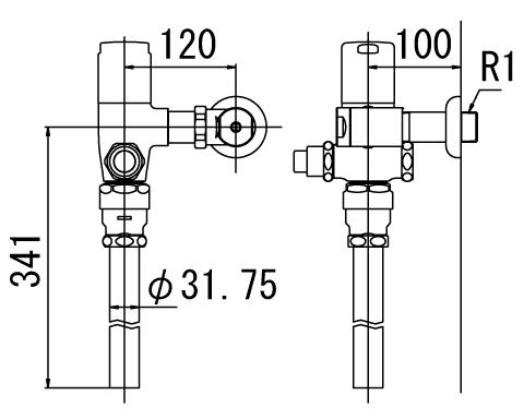 LIXIL リクシル 【CF-T6110P-C】 シリーズ名: シリーズ外 品名: 一般用フラッシュバルブ(節水形)(中水用)【沖縄・北海道・離島は送料別途必要です】