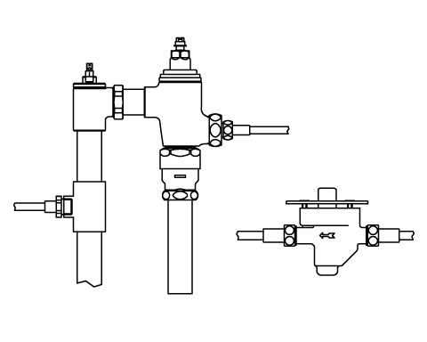 LIXIL リクシル 【CFR-680US-C】 シリーズ名: シリーズ外 品名: 隠ぺい形足踏式リモコンフラッシュバルブ(節水形)(中水用)【沖縄・北海道・離島は送料別途必要です】