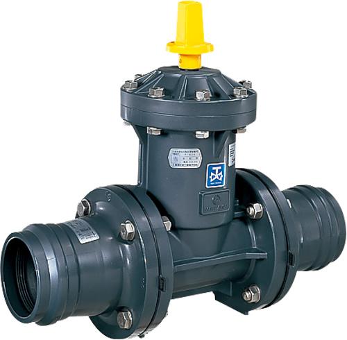 上水道関連製品 ビニベンゲート/バタフライ ビニゲート GM ゴム輪形短管付 1型 (キャップ式/左開き) GM1-50 Mコード:15080M 前澤化成工業