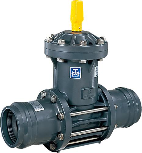 上水道関連製品 ビニベンゲート/バタフライ ビニゲート GF ゴム輪形 1型 (キャップ式/左開き) GF1-100 Mコード:15147M 前澤化成工業