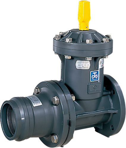 上水道関連製品 ビニベンゲート/バタフライ ビニゲート GV片ゴム輪形短管付 1型 (キャップ式/左開き) GV1-75 Mコード:15181N 前澤化成工業