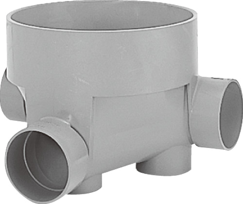 下水道関連製品 ビニマス M 100-300シリーズ 左右合流段差付 (WLS) M-WLS100-300 Mコード:41229 前澤化成工業