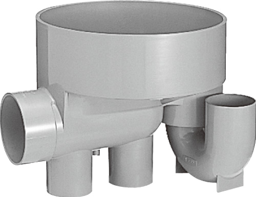 下水道関連製品 ビニマス M 100-300シリーズ 起点トラップ (UTK) M-UTK100X100P-300 Mコード:41237 前澤化成工業