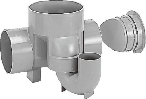 下水道関連製品 ビニマス M 125-200シリーズ 起点トラップ (UT-CK) M-UT-CK125X75P-200 Mコード:41476 前澤化成工業