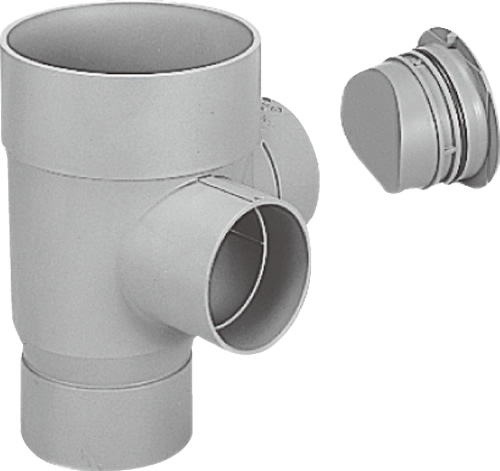 下水道関連製品 ビニマス M 125-200シリーズ 90度合流ドロップC付 (DRY) MC-DRY125-200 Mコード:41488 前澤化成工業