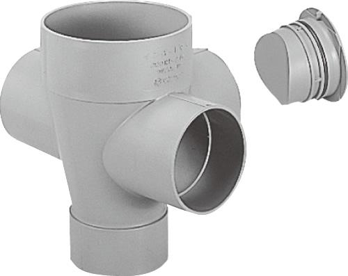 下水道関連製品 ビニマス M 125-200シリーズ 90度左右合流ドロップC付 MC-DR90WY125-200 Mコード:41489 前澤化成工業