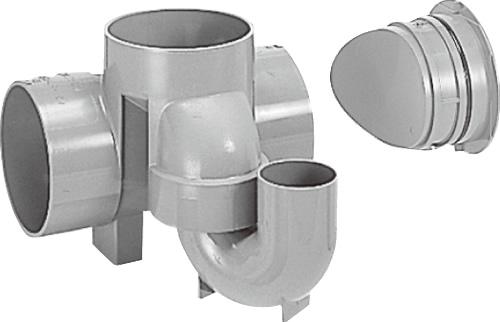 下水道関連製品 ビニマス M 150シリーズ 起点トラップ (UT-CK) M-UT-CK150X100P-150 Mコード:41646 前澤化成工業