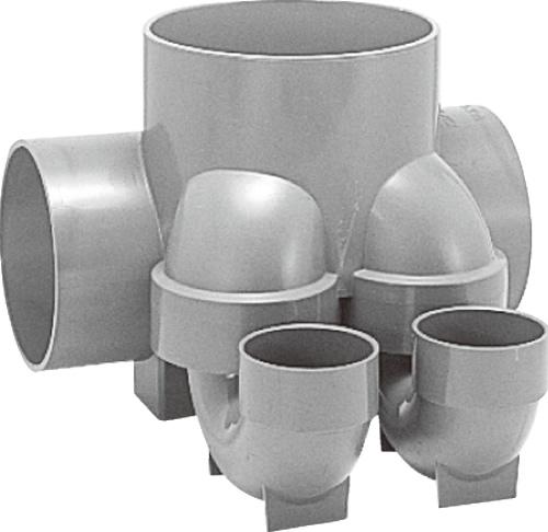 下水道関連製品 ビニマス MX 150-200シリーズ 2本トラップ (MX-UTW) MX-UTW右150X75S-200 Mコード:41799 前澤化成工業