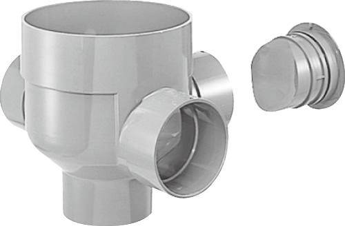下水道関連製品 ビニマス M 150-300シリーズ 90度左右合流ドロップC付 MC-DR90WY150-300 Mコード:41891 前澤化成工業