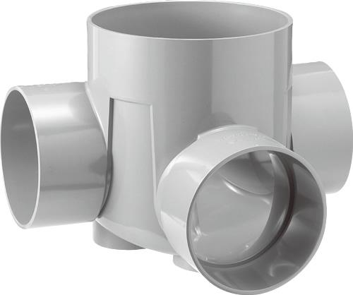 下水道関連製品 ビニマス M 200-300シリーズ 左右合流段差付 (WLS) M-WLS200-300 Mコード:41913 前澤化成工業