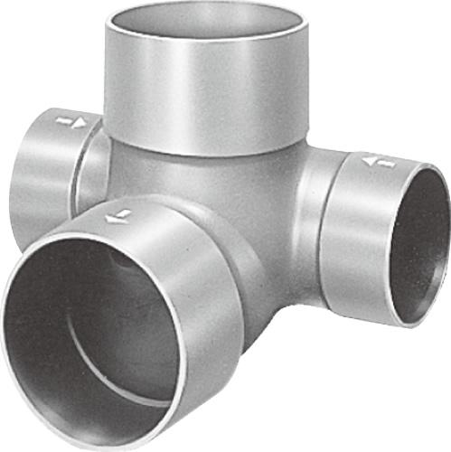 下水道関連製品 ビニマス M 200シリーズ 左右合流段差付 (WLS) M-WLS200X150-200F Mコード:41961 前澤化成工業