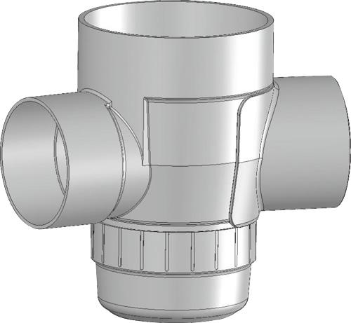 下水道関連製品 雨水マス/雨水浸透マス PVC製雨水マス UMA UMA 200-300シリーズ UMA-90L200-300 Mコード:42083 前澤化成工業