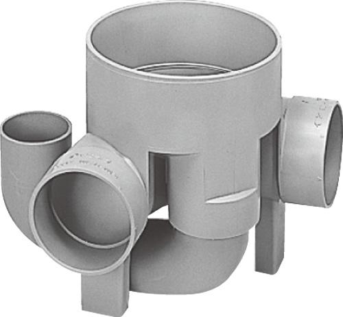 下水道関連製品 ビニマス M 100-200シリーズ 90度曲り外側トラップOUT-L M-OUT-L右100X100P-200 Mコード:49776 前澤化成工業