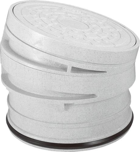 下水道関連製品 蓋 300/350 ライト蓋 CKA-AI-R ライト300 CKA-AI-Rライト300R Mコード:51735 前澤化成工業