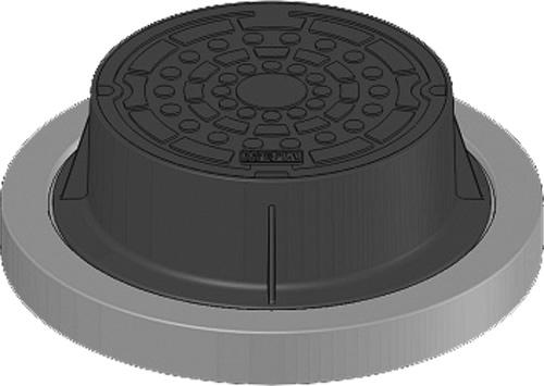 下水道関連製品 防護蓋 300シリーズ T25Aタイプ BH-T25A300B^ウスイ N Mコード:60694 前澤化成工業