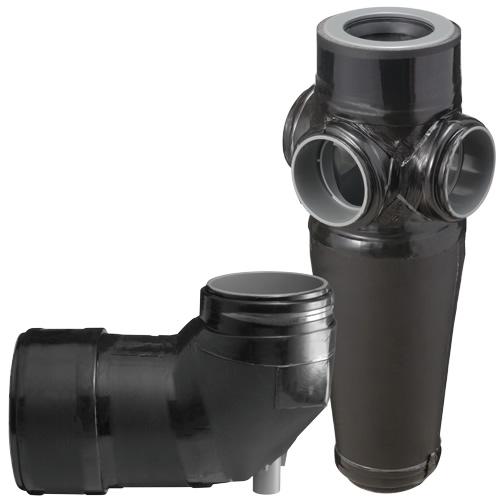 下水道関連製品 排水特殊継手 ビニコア ビニコア VLJ4X6 Mコード:72012 (前澤化成工業、積水、東栄管機 他) 配管部品,管材