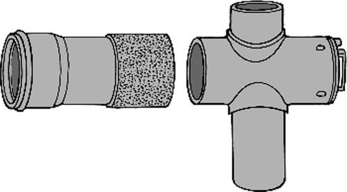 下水道関連製品 下水道継手 ビニ内副管/マンホール継手 分割型内副管用マンホール継手MRV-K MRV-K150-100 Mコード:75367 (前澤化成工業、積水、東栄管機 他) 配管部品,管材