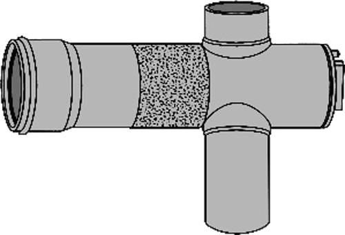 下水道関連製品 下水道継手 ビニ内副管/マンホール継手 塩ビ管本管用内副管用マンホール継手MRV MRV250-250 Mコード:75379 (前澤化成工業、積水、東栄管機 他) 配管部品,管材