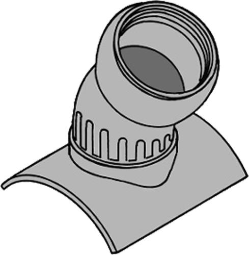 下水道関連製品 下水道継手 自在支管 塩ビ管用60度自在支管 60SVRF 60SVRF250-200 Mコード:75679 (前澤化成工業、積水、東栄管機 他) 配管部品,管材