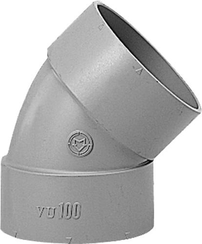 下水道関連製品 DV継手/VU継手 VU継手 VU45゜エルボ VU45L400 Mコード:77025 (前澤化成工業、積水、東栄管機 他) 配管部品,管材