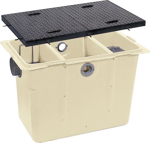 環境機器関連製品 グリーストラップ FRP製オイルトラップ パイプ流入埋設型 GT-Pオイル GT-100P-Aオイル鉄蓋付 Mコード:81335 前澤化成工業