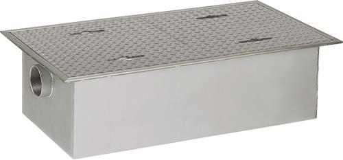 環境機器関連製品 グリーストラップ SUS製グリーストラップ パイプ流入超浅型 GTS-PL GTS-80PL 鉄蓋受座付 Mコード:81872 前澤化成工業