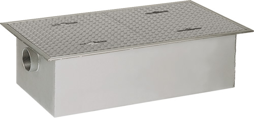 環境機器関連製品 グリーストラップ SUS製グリーストラップ パイプ流入超浅型 GTS-PL GTS-130PL 鉄蓋付 Mコード:81911 前澤化成工業