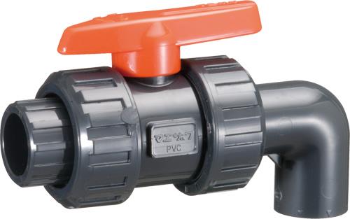 その他製品 MSバルブ 自在型ボールバルブ エルボ/TS式VBLU-T VBLU-T40赤 Mコード:85575 前澤化成工業