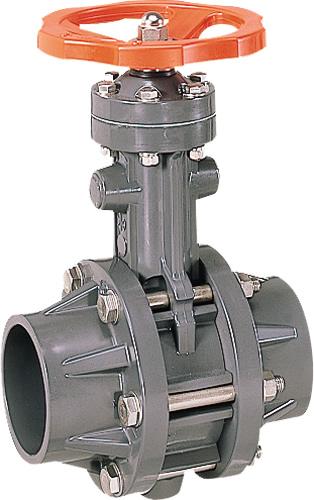 その他製品 MSバルブ バタフライバルブ ハンドル式接着形VTFH VTFHL-100プラント Mコード:87657 前澤化成工業