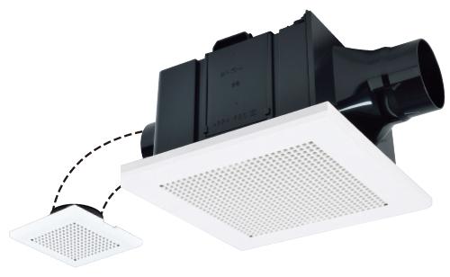 三菱 換気扇 VD-15ZFVC5 ダクト用換気扇 天井埋込形(DCブラシレスモーター搭載) 浴室・トイレ・洗面所用 プラスチックボディ (旧品番:VD-15ZFVC3)