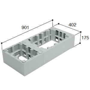 城東テクノ ハウスステップ オプション部品 【CUB-6040-H2】 ハウスステップアジャスター 2段 [新品]