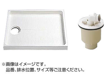 TOTO セット品番【PWSP80E2W】 洗濯機パン[PWP800N2W]サイズ800+縦引トラップ[PJ2004B]