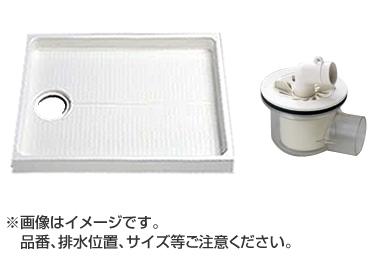 大型代引不可 TOTO セット品番【PWSP90F2W】 洗濯機パン[PWP900N2W]サイズ900+横引トラップ[PJ001]