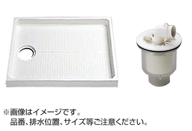 大型代引不可 TOTO セット品番【PWSP90G2W】 洗濯機パン[PWP900N2W]サイズ900+縦引トラップ[PJ002]