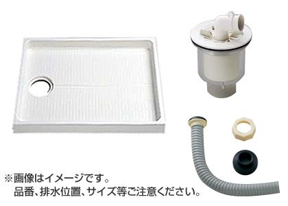 大型代引不可 TOTO セット品番【PWSP90GH2W】 洗濯機パン[PWP900N2W]サイズ900+縦引トラップ[PJ002]+ジャバラ排水ホース[PWH450]