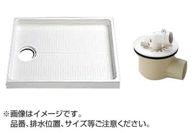 大型代引不可 TOTO セット品番【PWSP90H2W】 洗濯機パン[PWP900N2W]サイズ900+横引トラップ[PJ2008NW]