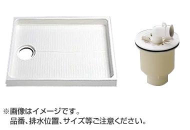 大型代引不可 TOTO セット品番【PWSP90J2W】 洗濯機パン[PWP900N2W]サイズ900+縦引トラップ[PJ2009NW]